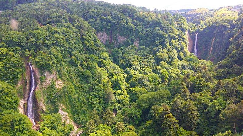震動の滝と雌の滝