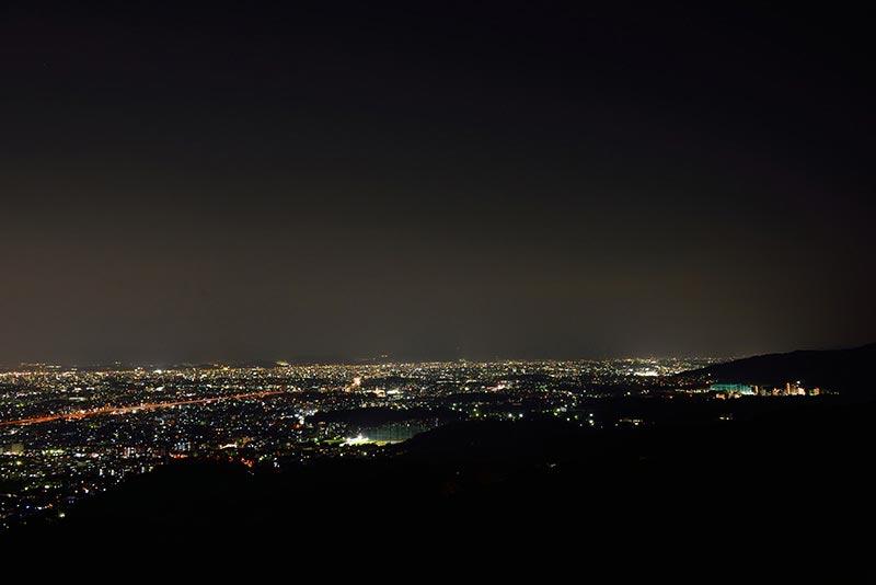 油山展望台から春日市方面
