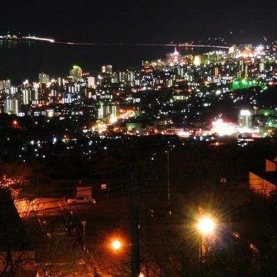 別府湾サービスエリアの夜景