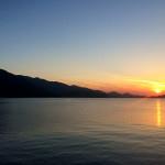 深江漁港の夕日