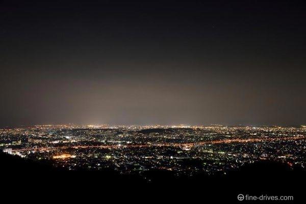 福岡市油山展望台の夜景