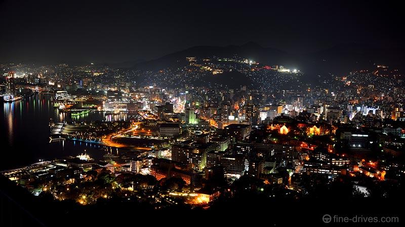 鍋冠山からの長崎市の夜景