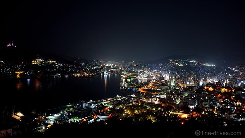 鍋冠山公園展望台からの夜景