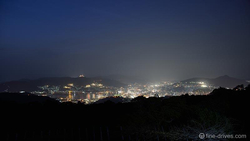 唐八景展望台からの長崎市の夜景を撮影