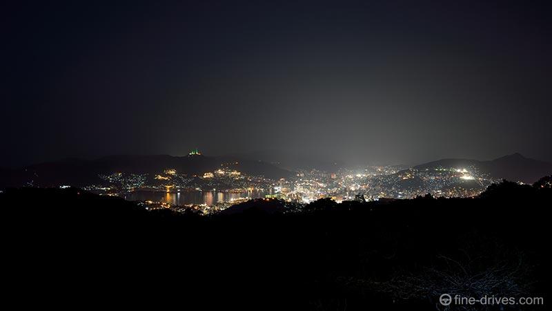 唐八景展望台から長崎市の夜景を眺める