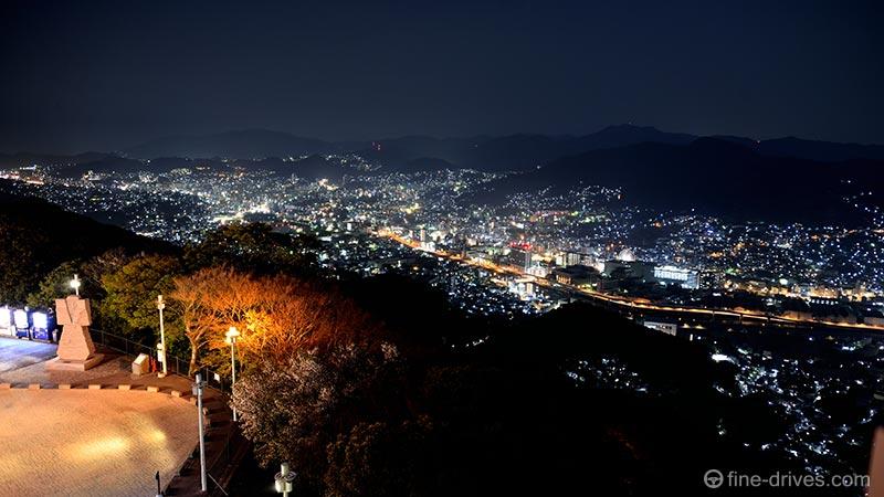 稲佐山の夜景 北の方角