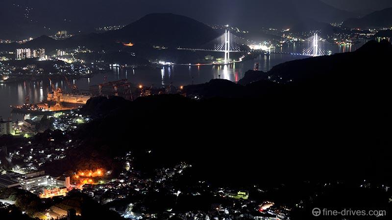 稲佐山展望台から女神大橋