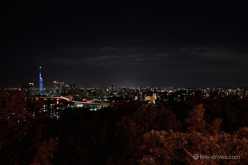 愛宕神社からの夜の福岡市