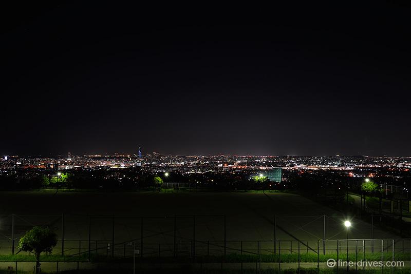 生松台から眺める福岡市の夜景