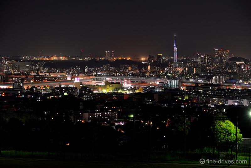 生松台中央公園から福重方面の様子