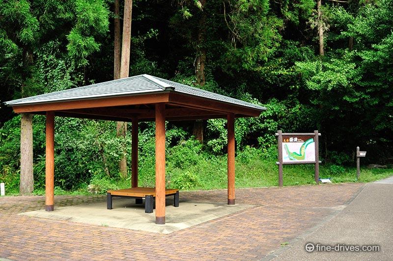 桜滝の休憩所