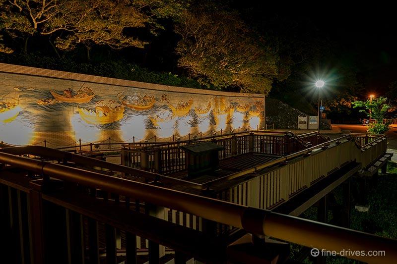 壇ノ浦合戦絵巻の壁画