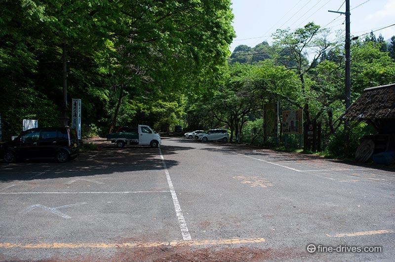 龍門の滝の無料駐車場