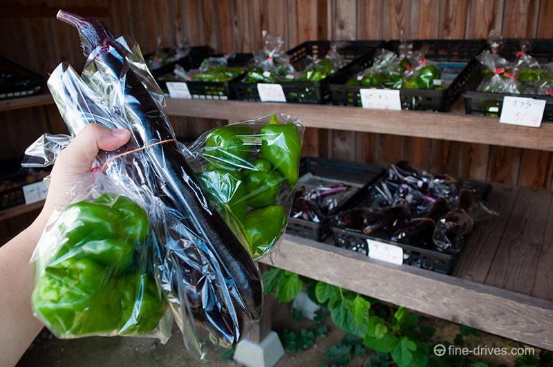ロイターマーケットの直売の野菜