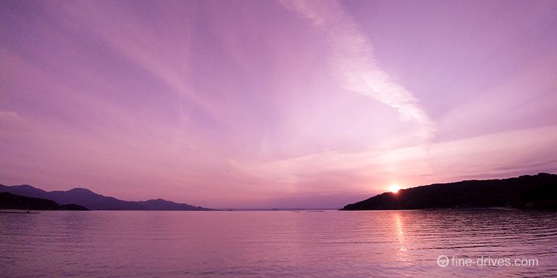 岐志漁港の夕日