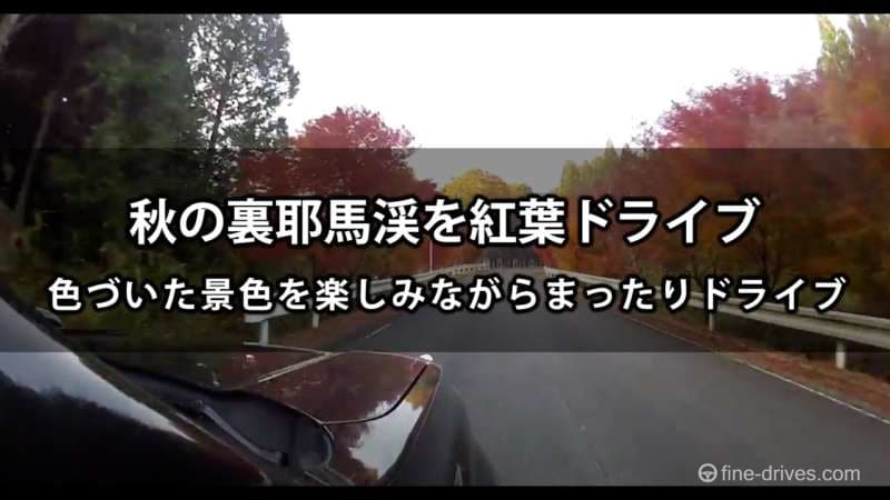 秋の裏耶馬溪 紅葉ドライブ